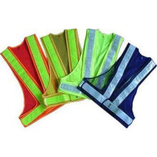 100% Polyester Fabric Reflective Safety Vests With Zipper E