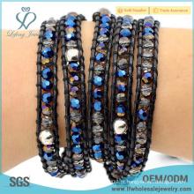 Melhor venda bohemian atacado jóias diy couro pulseira com boho estilo