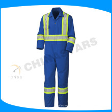 reflective safety cotton coverall