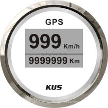 Popular 52mm Digital LED GPS Speedometer Velometer 0-999 (km/h mph knots) with Backlight 12V 24V