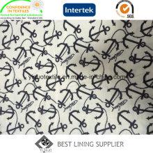 Doublure 100% d'impression de polyester de vente chaude avec de haute qualité