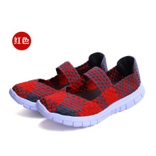 Red Breathable Outdoor Woman Woven Shoes
