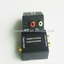 Digital Optical to Analog L/R RCA Audio Converter Adapter