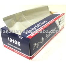 interfolded aluminium foil sheets