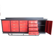 Taller Heavy Duty Use bancos de trabajo de metal con gabinete de herramientas Proveedor de Qingdao