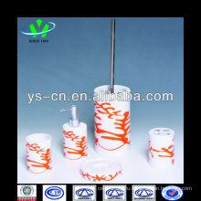 Цилиндрические керамические изделия из белого и оранжевого керамики для украшения и использования ванной