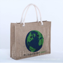 2014 Promotional Jute Bags with Cotton Rope Handles (hbjh-23)