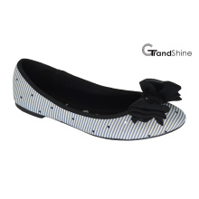 Women's Stripe Imprimé Canvas Flat Casual Ballet Shoes