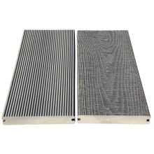 3D wood grain wpc decking cover around swimming pool