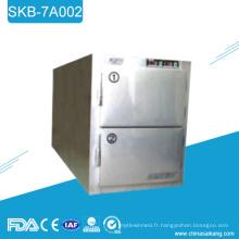 SKB-7A002 acier inoxydable Morgue réfrigérateur congélateur