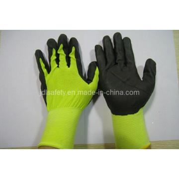 18gauge нейлон работы перчатка дышащей нитриловое покрытие (N1606)