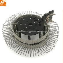 Подгонянные части подогревателя вентилятора вокруг слюды провода