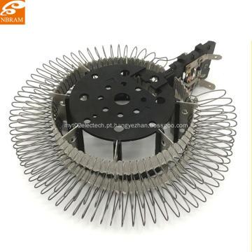 Mica de fio redondo personalizado das peças do calefator de fã