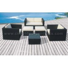Conjuntos de sofá de rattán patio