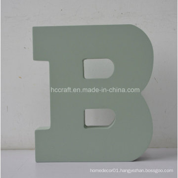 Wooden Letters with Alphabet Letter B Used for Home Decoration