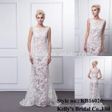 Frete grátis romântico sexy see-through vestido de noiva vestido de casamento royal pictures custom make plus sizes alibaba online dress