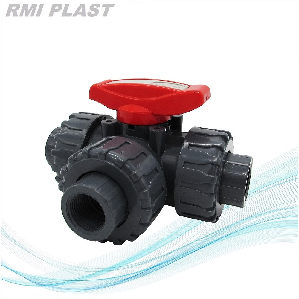 PP Three Way Ball Valve Socket Welding
