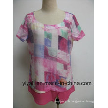 Print Women Top Blouse for Summer Wear Clothing