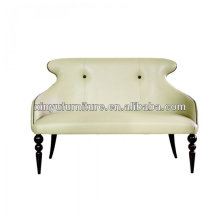 Cubierta de cuero de diseño único respaldo salón sofá XY3372