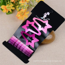Girls Fashion Jewelry Star Wave Painted Metal Hair Clips (JE1024)
