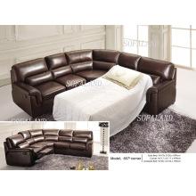 Canapé-lit en cuir de salon (657)