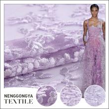 Broderie de tissu indien de belle conception de maille