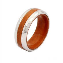 Latest design titanium and wood wedding bands ring,mens titanium band rings