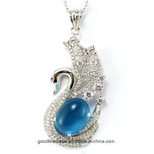 Special Design and 2015 Well-Designed 925 Silver Swan Shaped Silver Pendant Wholesale P4986