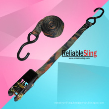High Tensile Polyester Camo Ratchet Tie Down Strap