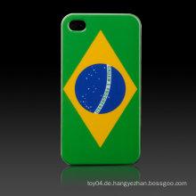 Brasilianische Flagge Hard Cover für iPhone