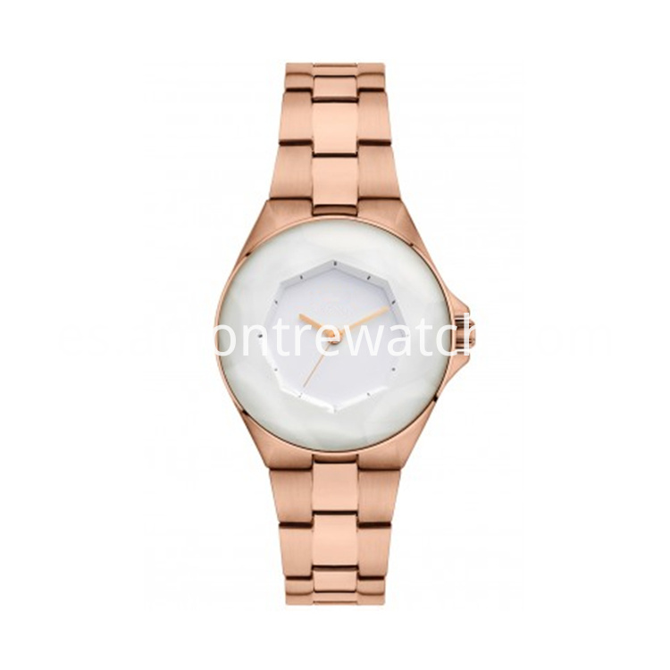 waomans rose gold watch