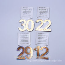 2015 custom gold color numbers design souvenir metal fridge magnet