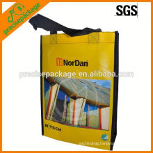 Promotional laminated pp non woven tote bag with custom logo