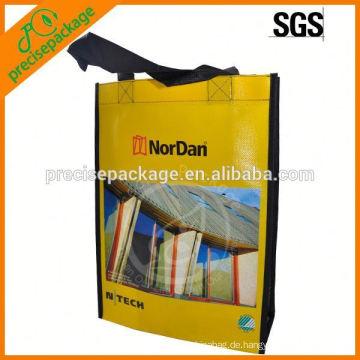 Werbe laminierte pp. Nicht gewebte Einkaufstasche mit individuellem Logo