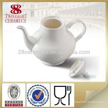 Cafetière en céramique en céramique blanc en céramique en gros avec logo personnalisé pour hôtel