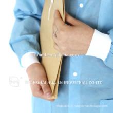 Équipement personnel Sécurité et blouson blanc antistatique jetable et confortable