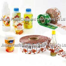 Etiquetas de manga de PVC com encolhimento de calor, filme de malha de laminação, etiquetas de esticar-manga / Rolls / Wrap