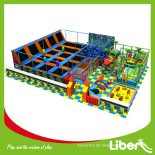 Import Matte Commercial Franchise Indoor Trampolin mit Kinder Soft Playground