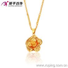 Nova Moda 24k ouro flores Delicado Pingente