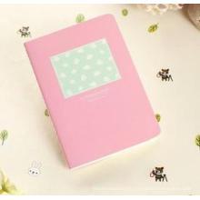 Cuaderno portátil de costura mini de la historieta, cuaderno de cuero de alta calidad