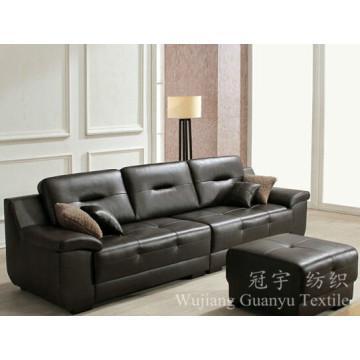 Daim 100% de polyester de tissu de cuir de tapisserie d'ameublement pour des couvertures de sofa