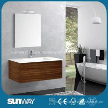 Hot Sale Wood Veener Bathroom Cabinet (SW-WV1204)