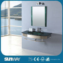 Venta caliente de vidrio templado lavabo con certificado