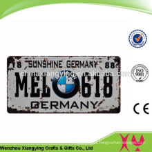 Custom High Quality OEM Acceptable Car Plate Souvenir