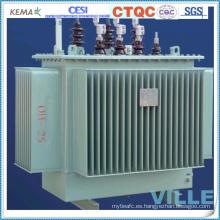 Transformadores trifásicos de distribución de 20kv de doble bobinado