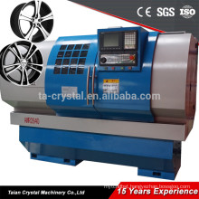 AWR2840 car alloy wheel surface diamond cutting cnc lathe with digitizer probe controller