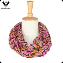 Bufanda colorida del infinito de la señora Fashion Chevron