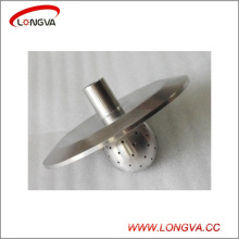 Sanitary Stainless Steel End Cap with Threaded Ferrule and Fixed Cleaning Ball
