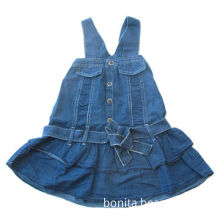 Girls' Dress in 8oz Denim/Jeans with Nice Shape, Ideal for Summer