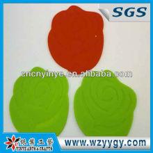 Beliebte angepasste Rose geformt weich PVC/weiche Gummimatte